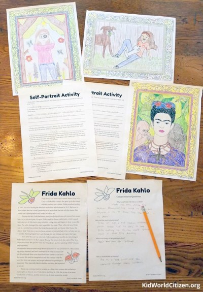 Story of Frida Kahlo Mexican Artist Kid World Citizen