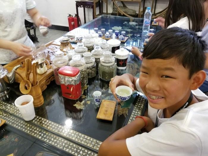 Trying Tea Beijing with Kids- Kid World Citizen