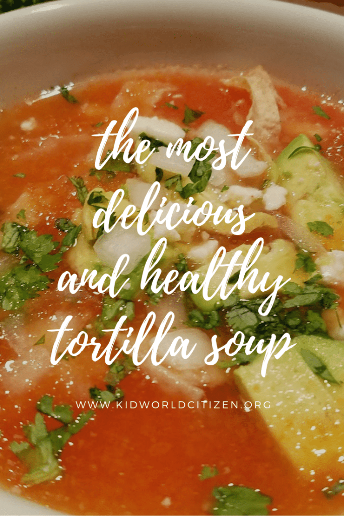 Mexican Tortilla Soup Recipe- Kid World Citizen