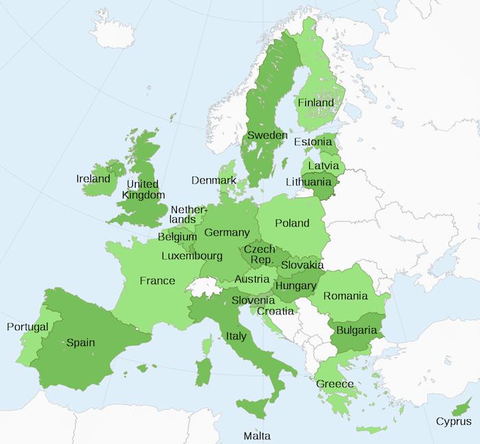 Map European Union- Kid World CItizen