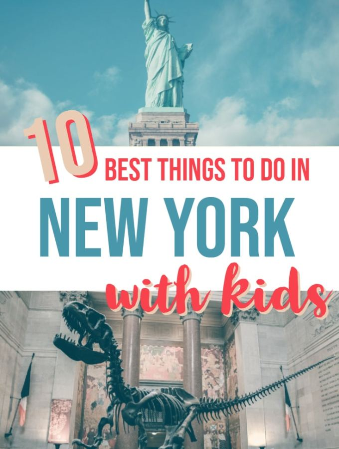New York City is one of the best cities in the world to visit with kids. There is so much to do in New York City. Visit Central Park, taking a selfie with the Statue of Liberty, explore the American Museum of Natural History (of Night at the Museum fame). These activites and more will make your trip to New York City in the USA one of your best family vacations. #Travel #USA #NewYork #NYC #Travelwithkids #Familytravel