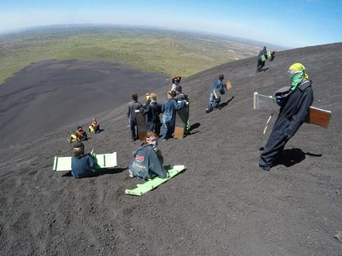 Volcano Boarding in Cerro Negro: Things to do in Nicaragua with Kids