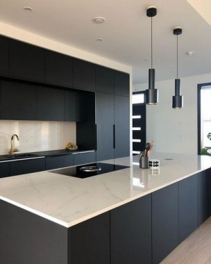 16 How To Decorate With Stylish Black Kitchen Cabinets 14