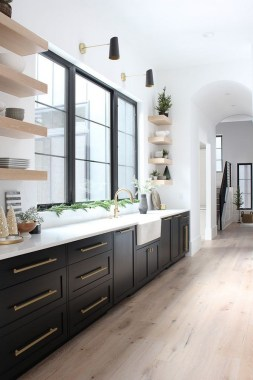 16 How To Decorate With Stylish Black Kitchen Cabinets 16
