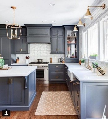 17 Blue Kitchen Cabinet Ideas To Upgrade Your Kitchen Today 12