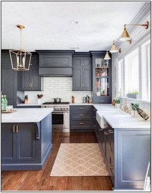 17 Blue Kitchen Cabinet Ideas To Upgrade Your Kitchen Today 16