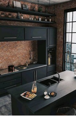 18 Black Kitchen Cabinet Ideas For The Chic Cook 08