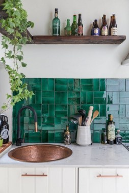 18 Green Kitchens That Will Make You Envious 16