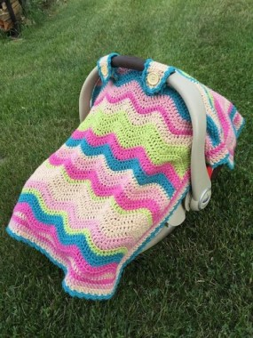 17 Gorgeous DIY Baby Car Seat Cover Ideas 07