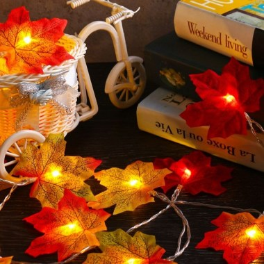 18 Colorful Autumn Leaves DIY Garland For Your Home Decoration 22