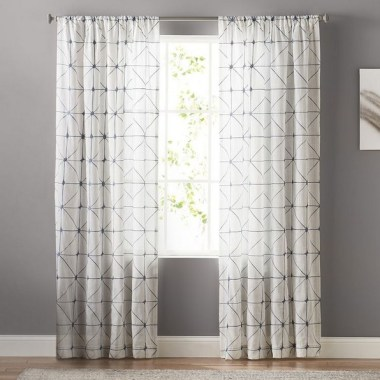 19 Simple Embroidery Curtains For Living Room 07