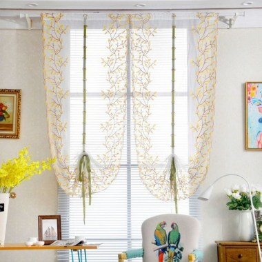 19 Simple Embroidery Curtains For Living Room 22