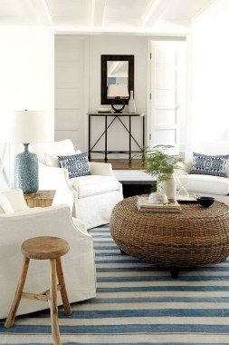 22 Adorable Living Room Decor Ideas With Coastal Touches 07