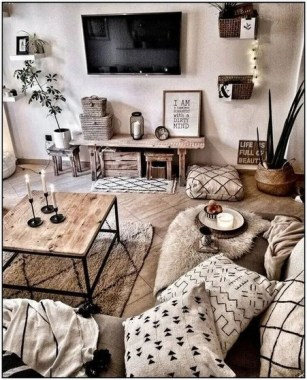 21 Rustic Farmhouse Living Room Decor Ideas 10