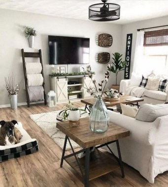 21 Rustic Farmhouse Living Room Decor Ideas 18