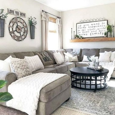 21 Rustic Farmhouse Living Room Decor Ideas 20