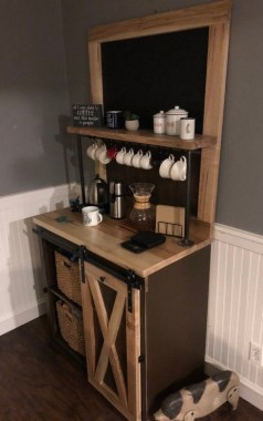 25 Mini Coffee Bar Ideas You Need To Consider For Your Own 09