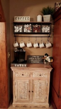 25 Mini Coffee Bar Ideas You Need To Consider For Your Own 24