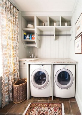 26 Beautiful And Functional Small Laundry Room Design Ideas 13