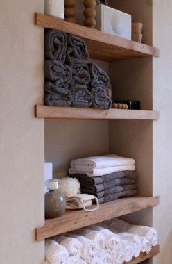 27 Built In Bathroom Shelf And Storage Ideas To Keep Your Bathroom Organized 19