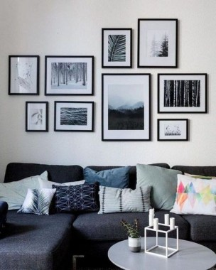 28 Creative Ways To Fill Your Plain Walls By Showing Off Your Mini Photo Collections 19