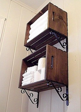 29 DIY Wood Crate Shelves Projects To Calm The Clutter Effectively 21