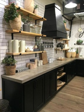 30 Stylish Black Kitchen Cabinets That Instantly Upgrade Your Kitchen Look 06