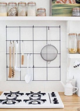 37 Best DIY Decor Ideas For Your Home Using Wire Wall Grid 10