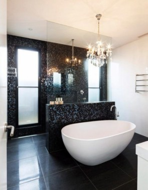 42 Contemporary Lighting Ideas For Your Bathroom Using Chandelier 23