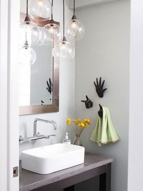 42 Contemporary Lighting Ideas For Your Bathroom Using Chandelier 42