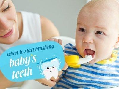 تنظيف اسنان الاطفال بالفرشاة