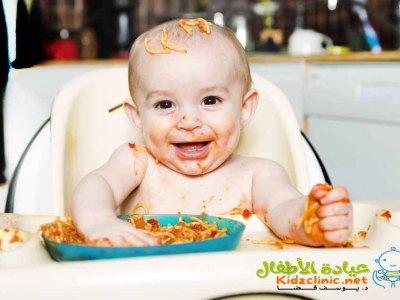 طعام الاطفال بعمر السنة