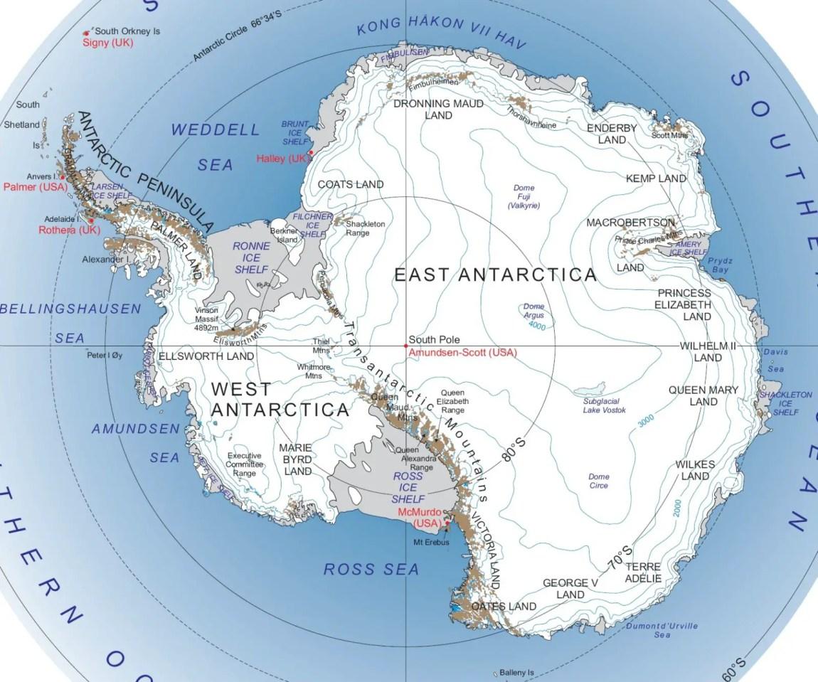 Antartica map