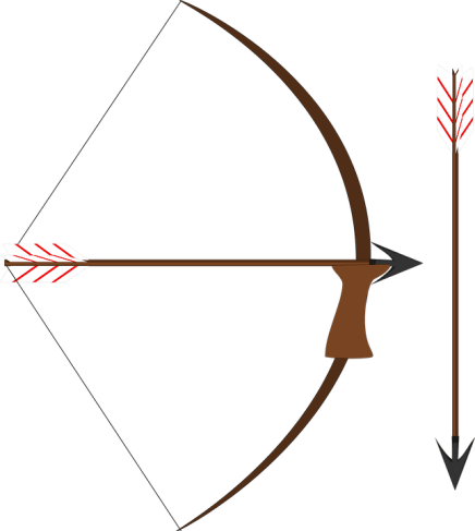 bows and arrows - stone age weapons