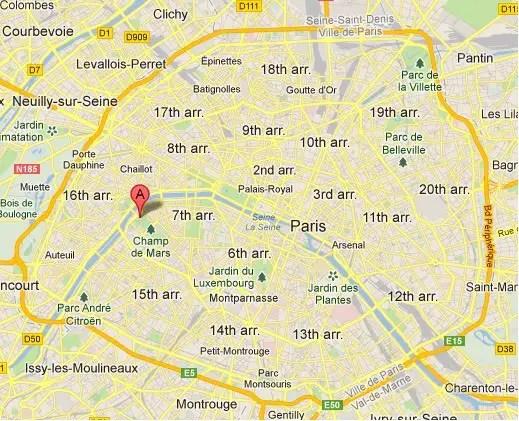 eiffel tower location