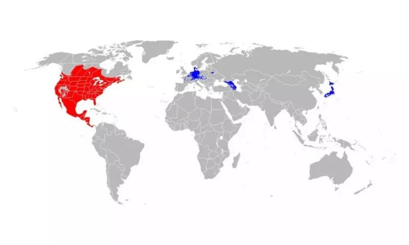 Where Do Raccoons Live In The World - Racoon Habitat Map
