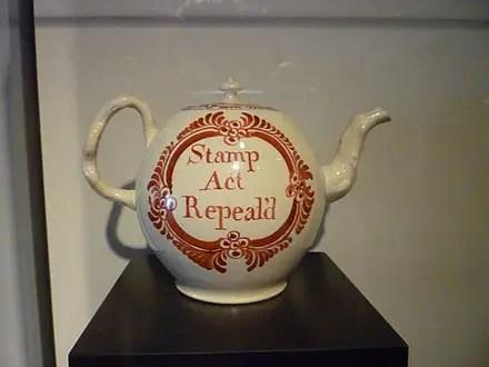 stamp act teapot