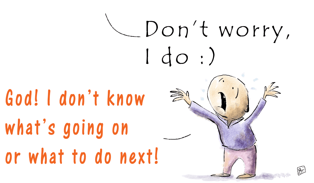 Discerning the will of God. Quick advice in the form of a cartoon about how to know God's will