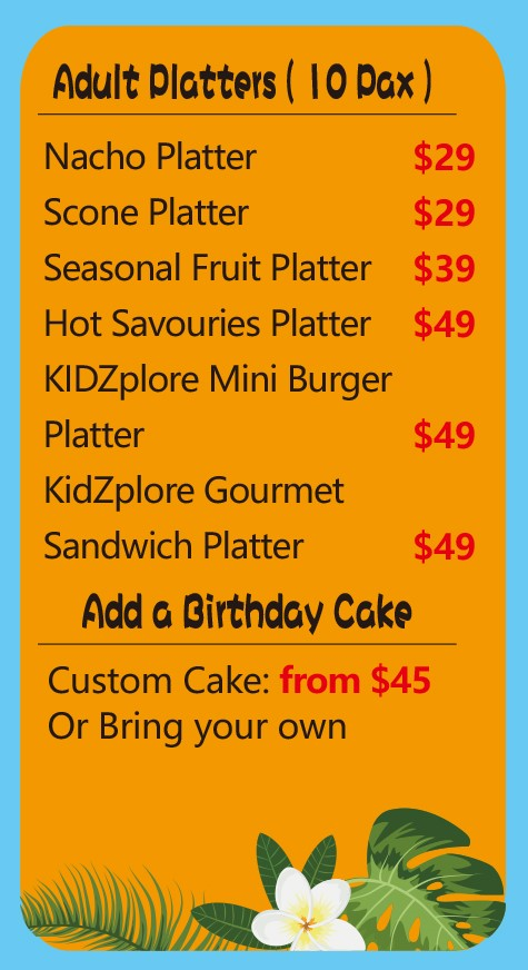 Kidzplore Platter- Kids play centre Canberra