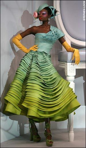 Galliano origami dress