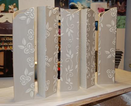 Kristen Kieffer screen vases (h) in progress