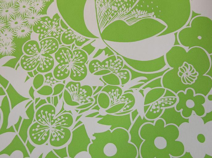 Retro_Op-Art_Green_&_White_Floral