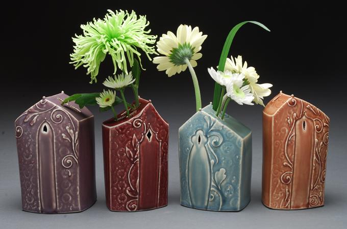 Kristen Kieffer House Form Vases
