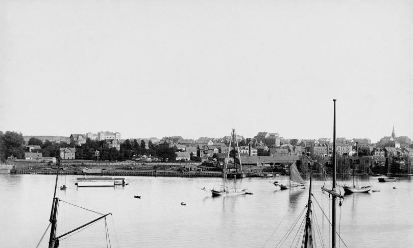 Blick auf Gaarden um 1890