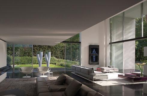 Bên trong dinh thự là không gian rộng với nội thất tiện nghi.