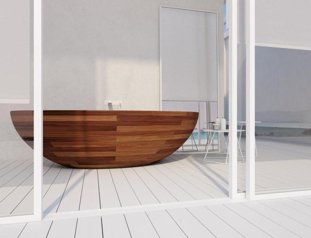 Mẫu thiết kế bồn tắm bằng gỗ – Điểm nhấn nổi bật cho căn phòng