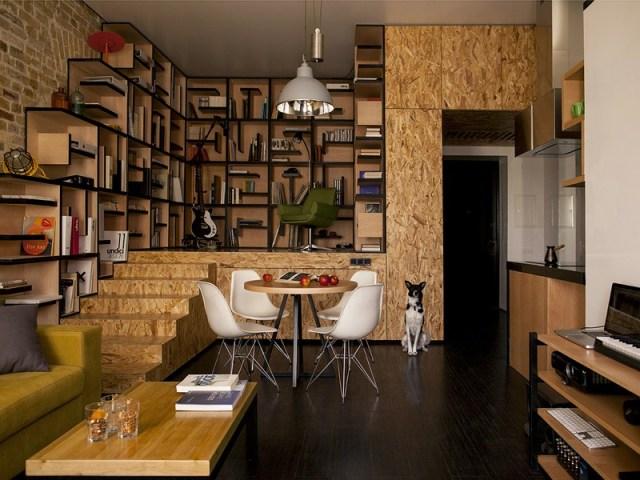 """Concept """"Dòng chuyển động"""" cho nội thất của căn hộ Kiev"""