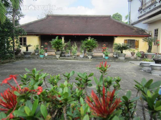 Những ngôi nhà rường có nhiều cây, hoa xung quanh tạo cảnh quan đẹp và thơ mộng.