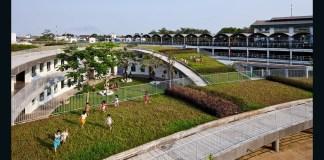 Farming Kindergarten. Vo Trong Nghia Architects. 2013, Bien Hoa City, Vietnam. (Photo: Hiroyuki Oki)