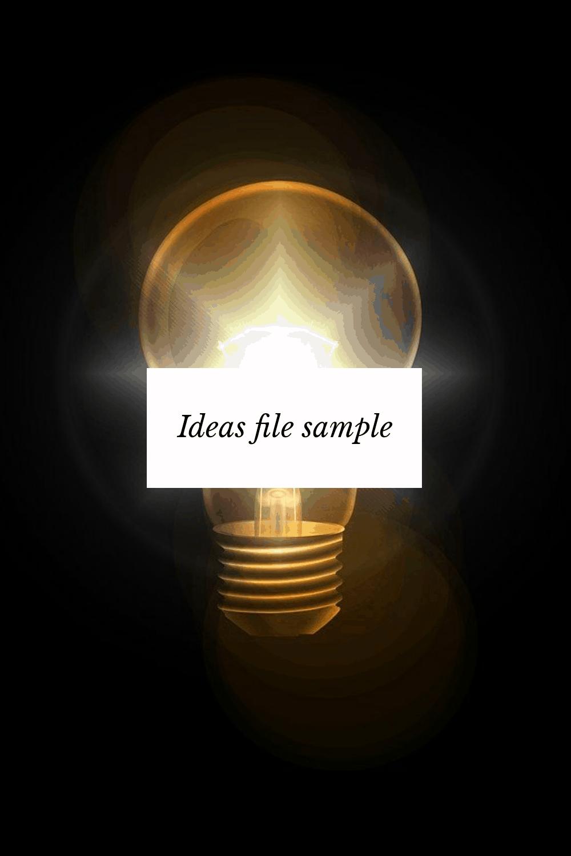 ideas sample